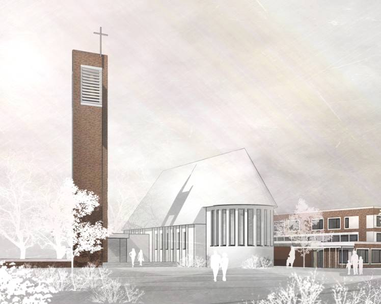 März 2018 - Wettbewerb Neubau Kindertagesstätte / Ersatzbau Kirchturm, 1.Preis