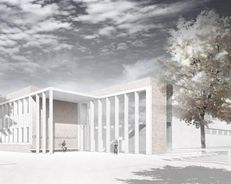 Februar 2015 - Wettbewerb Oberstufenhaus Gymnasium Eppendorf, 1.Preis